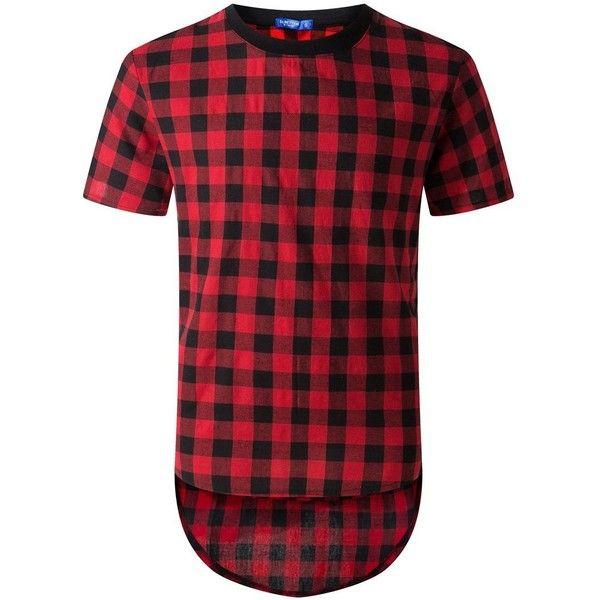LILBETTER Mens Hipster T Shirt Hip Hop Basic Longline Crewneck T-shirt... ($18) via Polyvore featuring men's fashion, men's clothing, j crew mens clothing, mens clothing, hipster mens clothing and men's apparel