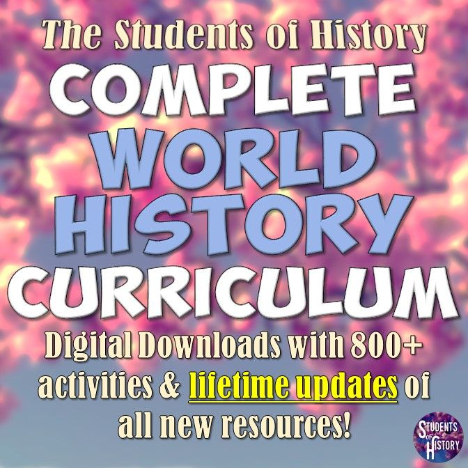 World History Curriculum Plans | Digital Downloads of 800+ Activities for World History | Lessons for Prehistory through to the Modern World!