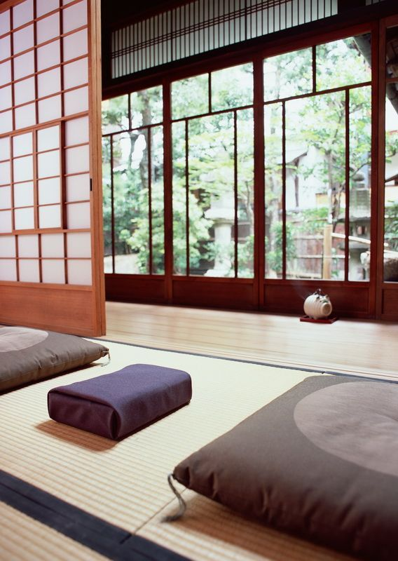 Japanese traditional architecture. #shoji #tatami #japan This looks like two rooms we had in the private rental in Tokyo in 1953.