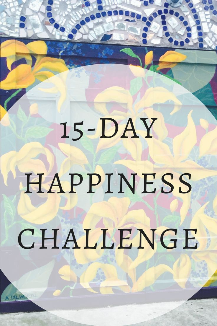 Work on your self happiness to better your mental health!