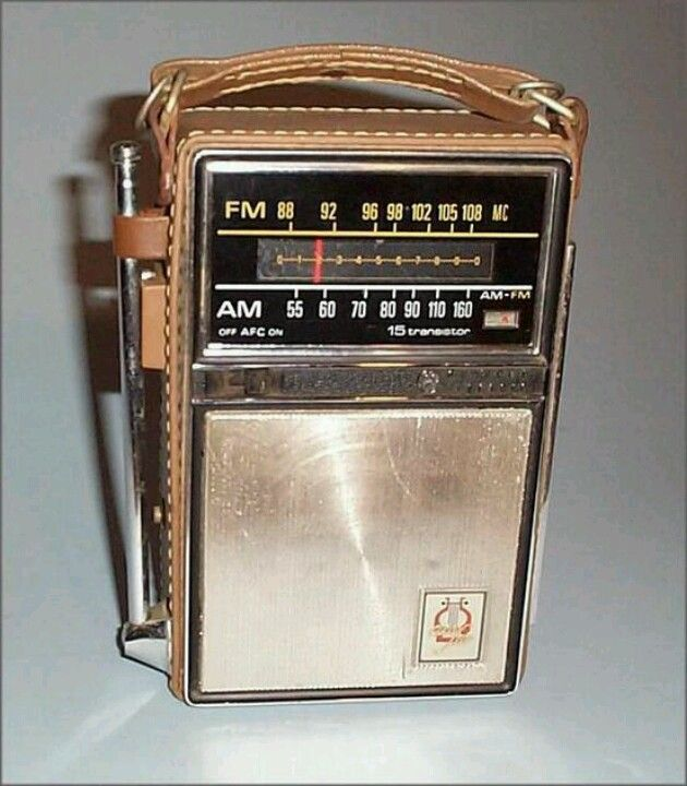 transistor radio. I used to fall asleep to this radio every time I spent the night at my grandparents house.