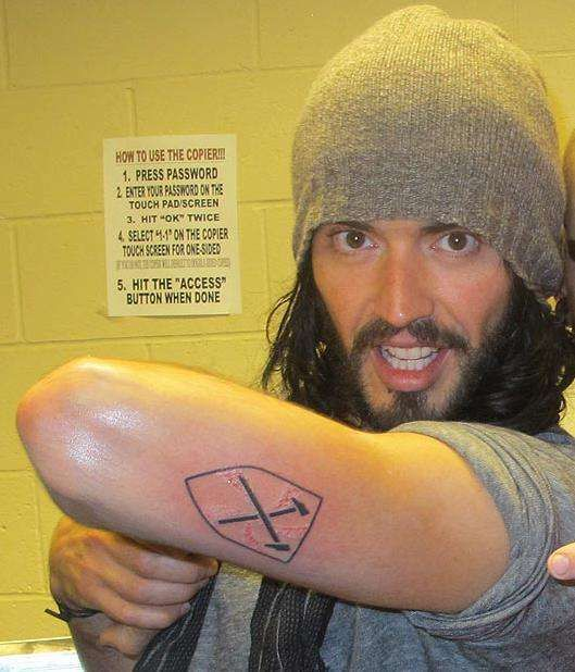 Russell had his favorite football team the West Ham United badge inked on his arm by legendary tattoo artist Bang Bang.