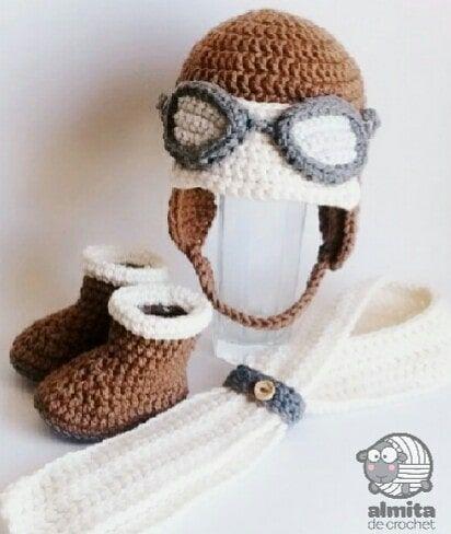 Aviator set crochet