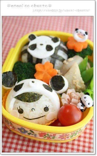 作り方】はんぺんde被り物パンダのお弁当 by asamiさん | レシピブログ ...