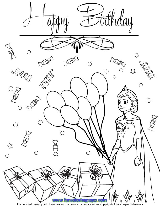 147 best Happy Birthsday coloring images on Pinterest Colouring