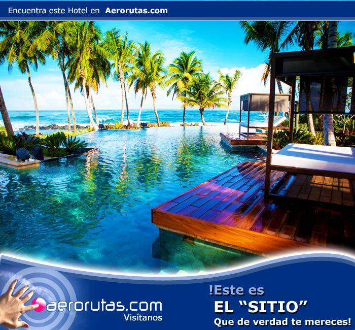 Escápate a este hermoso paraíso, visita el Hotel Dorado Beach en Puerto Rico. ¡Reserva Ahora! http://hoteles.aerorutas.com/templates/447771/hotels/418500/overview?roomsCount=1&rooms%5B0%5D.adultsCount=1&rooms%5B0%5D.childrenCount=0&currency=USD&currencySymbol=%24&lang=es