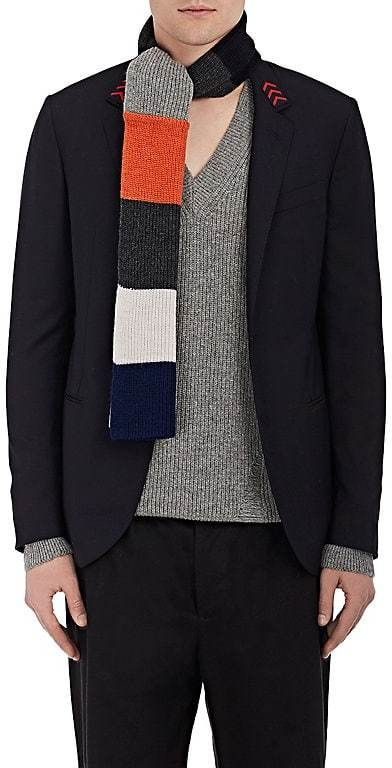 Lanvin Men's Colorblocked Wool-Alpaca Scarf