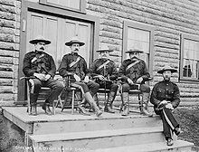 North-West Mounted Police officers, Yukon, 1900