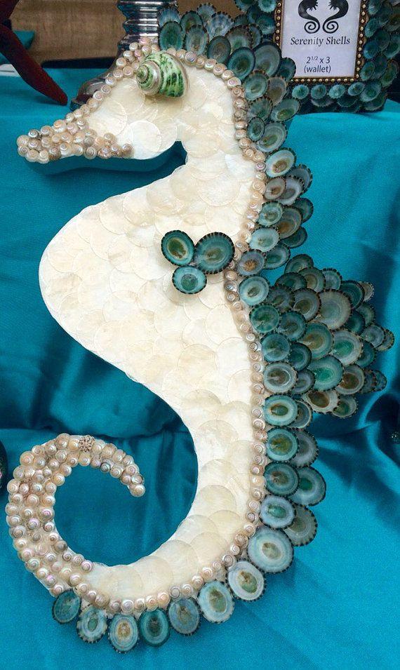 Seashell Seahorse//Shell Seahorse//Sea by SerenityShells on Etsy