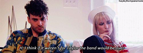 Taylor saved Paramore