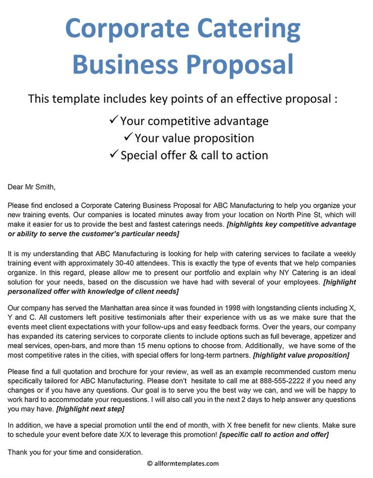 Catering Proposal Templates, 10+ Catering Templates
