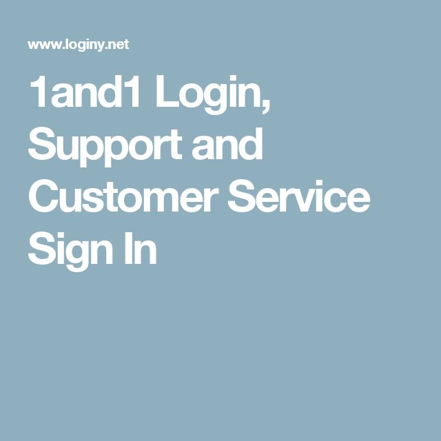 1and1 Login, Support and Customer Service Sign In