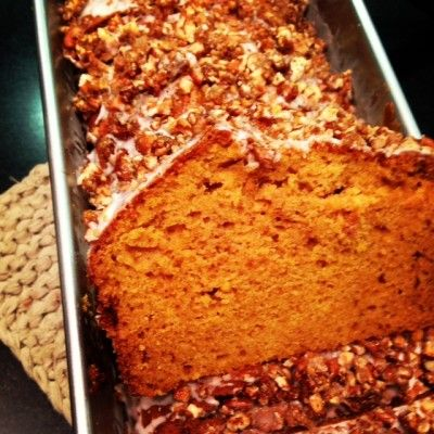 gluten free spiced pumpkin bread w candied pecans this spiced gluten ...