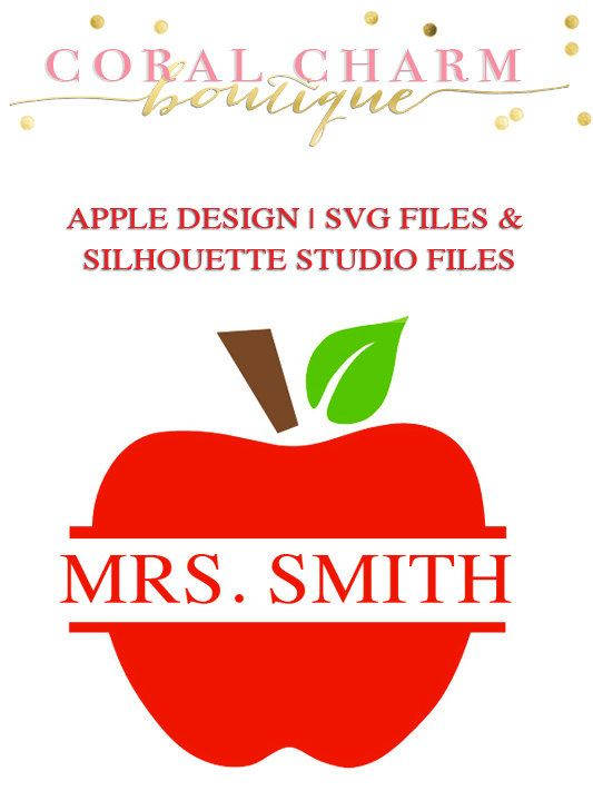 Apple Design File for Cutting Machines SVG and