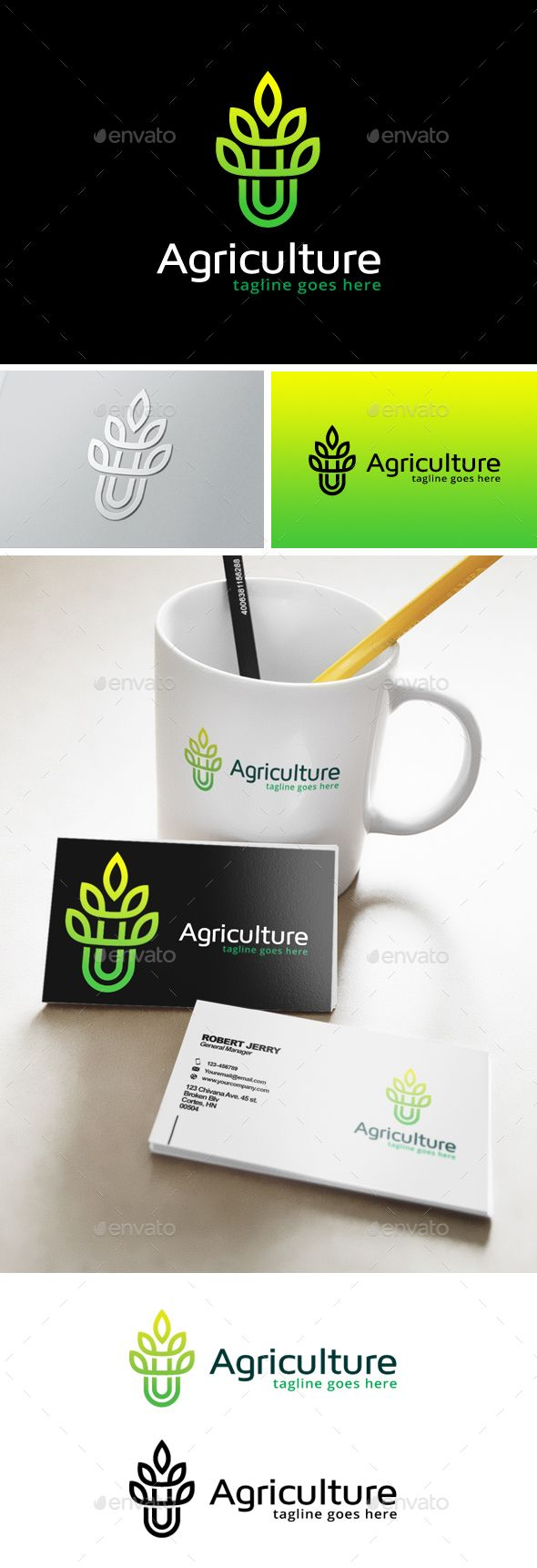 Agriculture Logo Template Transparent PNG, Vector EPS, AI Illustrator #logotype ...