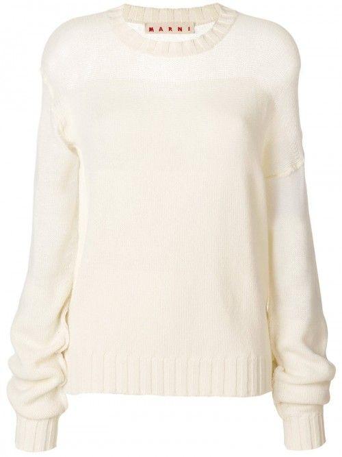 Marni+Panelled+Jumper+Women+Cashmere+Virgin+Wool+42+White+Cashmere+Virgin+Wool+|+Dress+and+Clothing