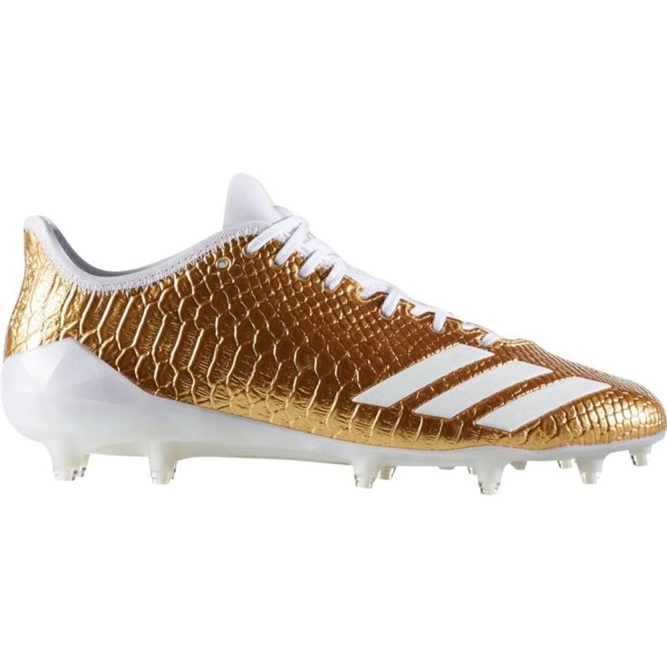 adidas Men's adizero 5-Star 6.0 Gold Football Cleats, Gold/White