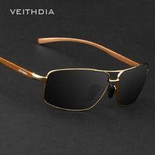 Veithdia Polaroid óculos De Sol dos homens De alumínio e magnésio Polarized óculos De Sol Mens Sunglasses marca Designer Oculos De Sol 2458(China (Mainland))