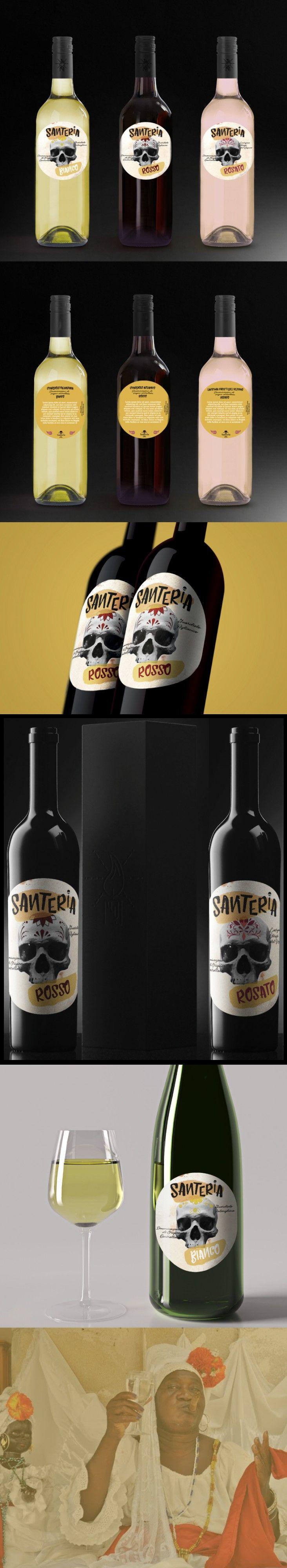 Santeria Wine Production Realizzazione etichette per vino dal nome ´´Santeria´´ - Artwork Dario Aniello Tammaro - Area: Graphic Design  Categorie: Packaging, Elaborazioni grafiche    Corso: Grafica Pubblicitaria e Editoriale Docente di progettazione grafica: Nicola Cozzolino