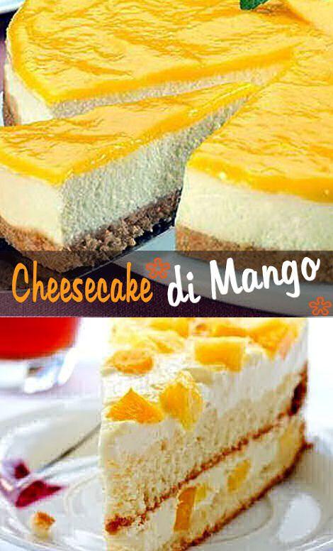 La cheesecake di mango è ottima in estate e se siete a corto di questo frutto potete utilizzare anche l'anans o qualsiasi frutta fresca, anche in scatola: l'importante è far scolare bene al frutta prima di utilizzarla.