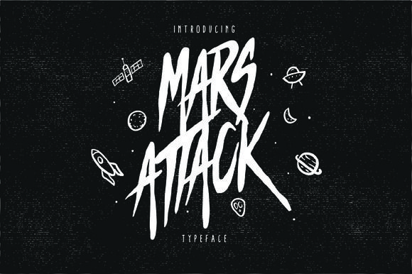 Mars Attack Typeface by giemons on @creativemarket