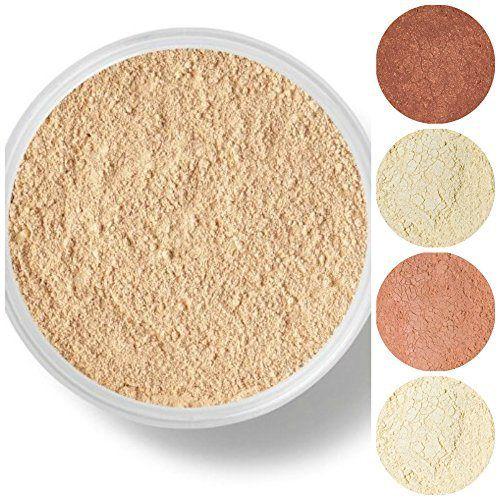 STARTER SET Mineral Makeup Kit Bare Skin Sheer Powder Matte Foundation Veil (Warm (most popular)) - http://essential-organic.com/starter-set-mineral-makeup-kit-bare-skin-sheer-powder-matte-foundation-veil-warm-most-popular/