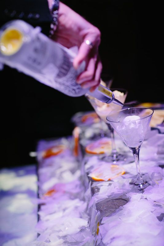 Dramatic desserts: Nitrogen ice cream station paired with frosted vodka. #LivingGrand | Grand Hyatt