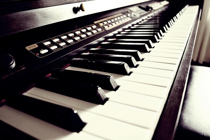 Mom's piano.