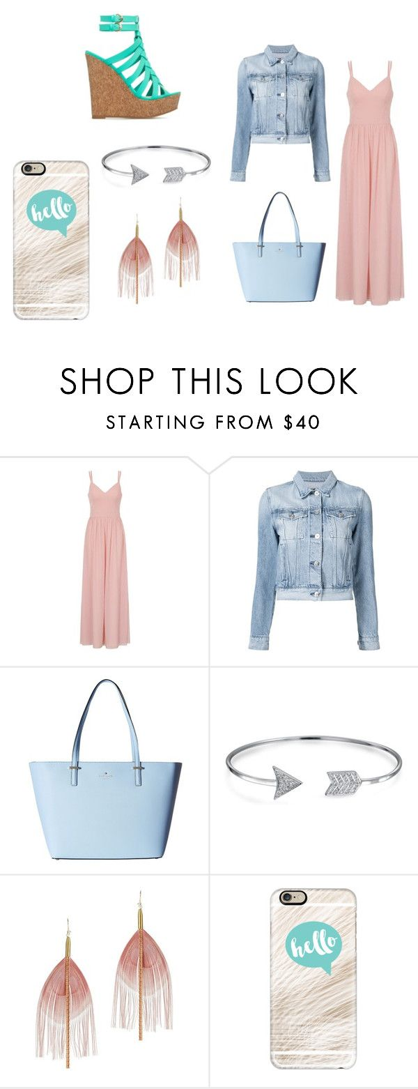 """""""Untitled #10"""" by alana-26 on Polyvore featuring Chi Chi, 3x1, Kate Spade, Bling Jewelry, Serefina, Casetify and denimjacket"""