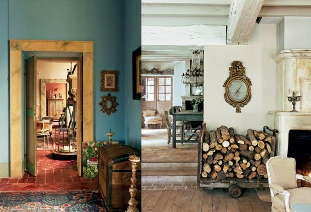 From the book: Farrow and Ball Decorating with Colour. Love the blue (leave the white, for me, though nice clock)