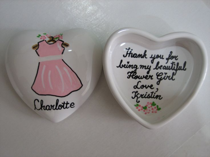 Personalized Wedding Pink Flower Heart Trinket Box Great Gift Any Design