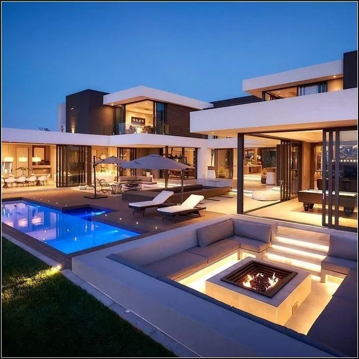 142 Stunning Modern Dream House Exterior Design Ideas Page 10 142 Stunning Modern Dream House Luxury Homes Dream Houses House Designs Exterior House Exterior