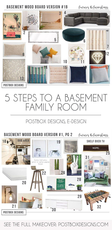 Create A Boho Basement Family Room Via Online Interior Design Home - Create a bedroom design online