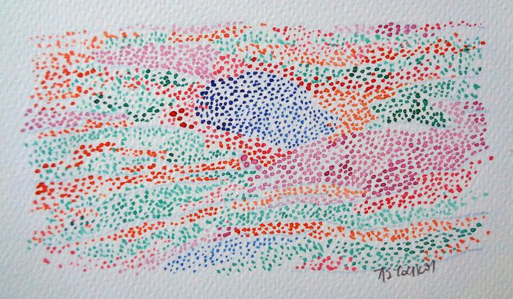 dots, panagiota staikou 2017 ink on paper