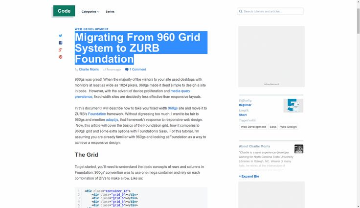 Migrating From 960 Grid System to ZURB Foundation