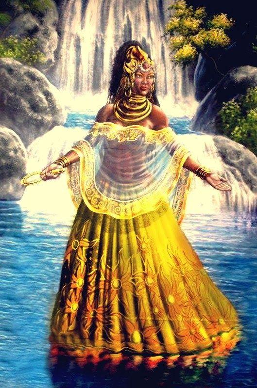 Oxum, diosa orixa de las aguas dulces, de la sensualidad femenina y de la fertilidad