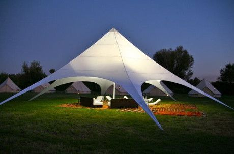 StarShade 1700 PRO - Festive Tent - Optional Side Panels - Oxford Polyester with White PU Coating.
