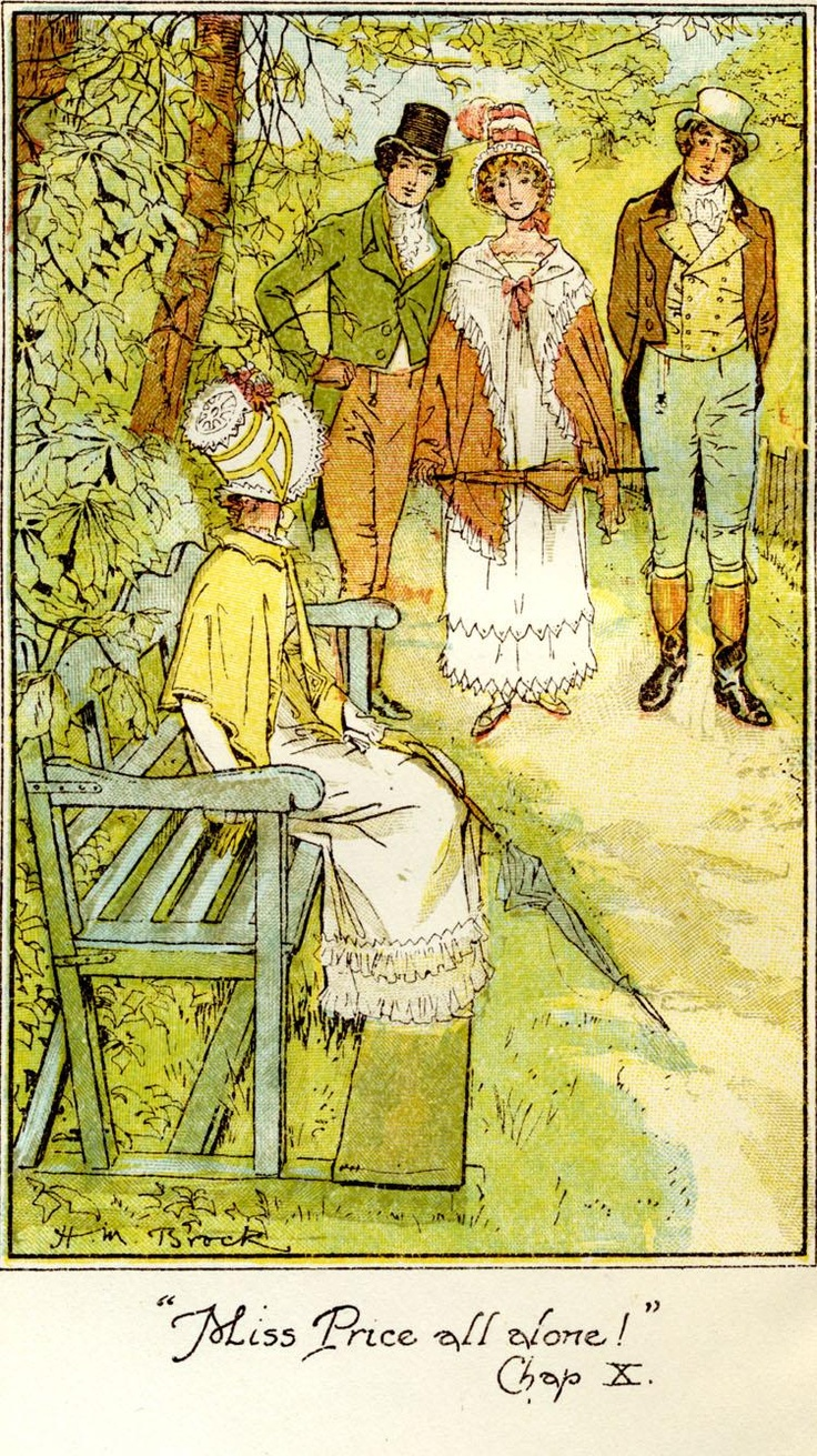 H. M. Brock 'Miss Price all alone' from Mansfield Park by Jane Austen