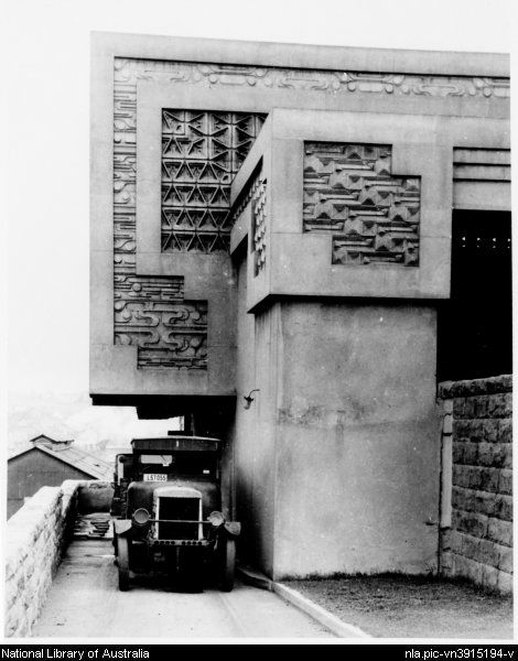 [Pyrmont Incinerator, showing sculptural details