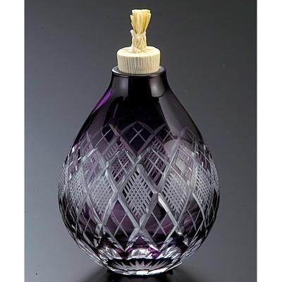江戸切子 振り出し 江戸紫(金平糖付)
