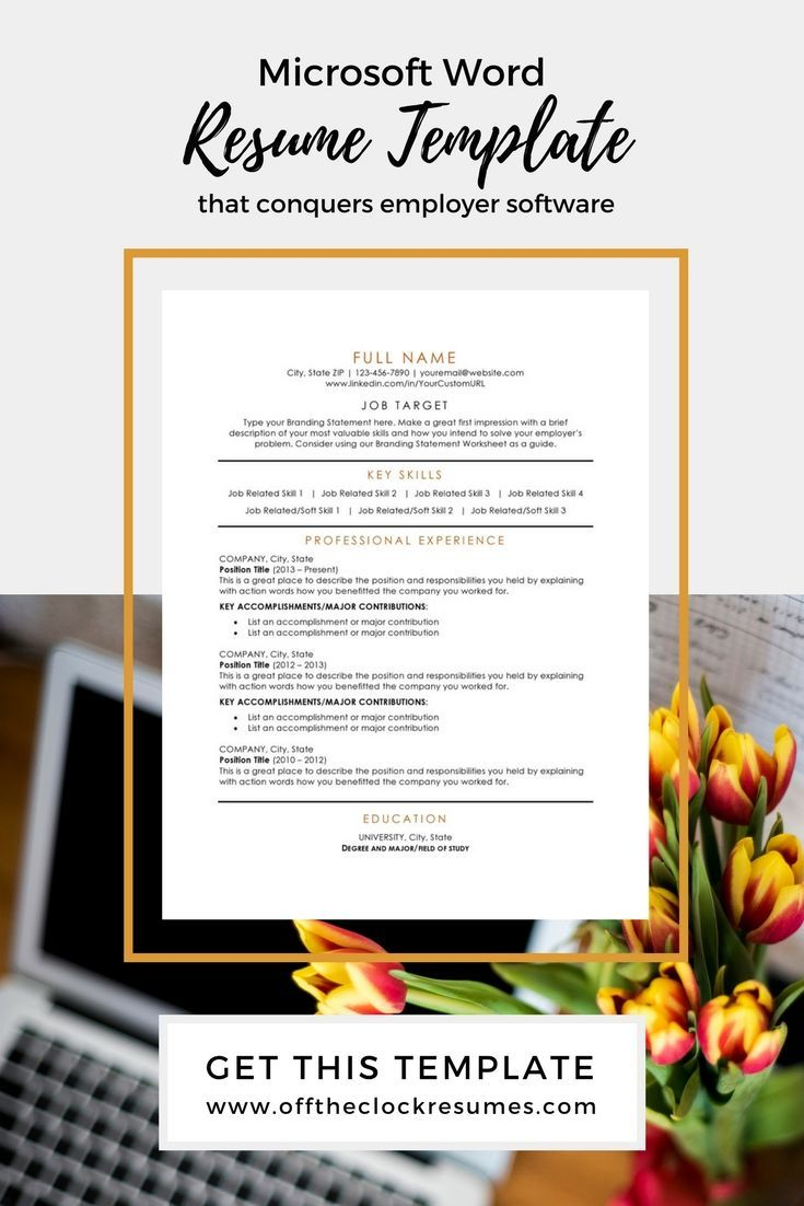 Pass Applicant Tracking Software With This Microsoft Word Resume