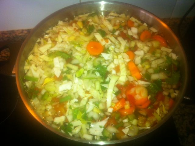 opskrift, slankesuppe, slanke, suppe
