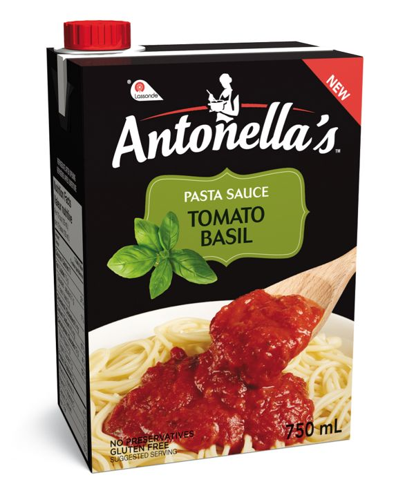 What's the first ingredient in Antonella's TOMATO-BASIL pasta sauce? Delicious, sun-dried tomatoes. You won't find any modified ingredients or added sugar in the mix—just tomatoes, basil and a balanced blend of spices to tie it all together.