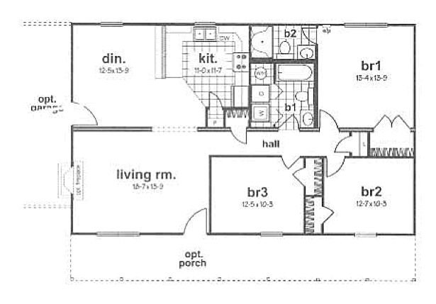 Modular floor plans and prices dover modular raised for Raised ranch floor plan