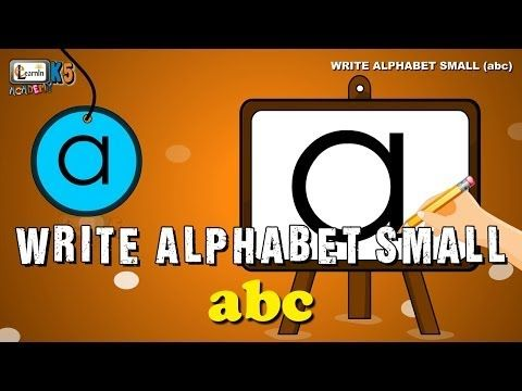 Learn to write abc | Writing Alphabet Letters for Children | Writing practice | elearninacademyk5 - YouTube