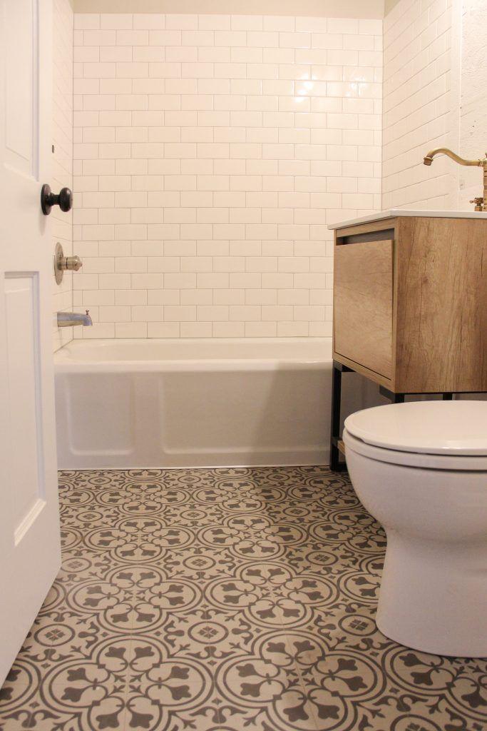 Pattern Bathroom Flooring Sheet Vinyl Tub Surround Tile Glossy White Bathroom Vinyl Vinyl Flooring Bathroom Tub Surround