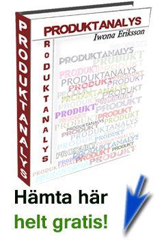 "Analysera din produkt - hämta ""Produktanalys"" gratis   http://driva-webshop.se/"