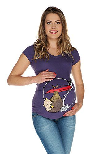 My Tummy Tshirt premaman Cicogna con scollo V viola S (small) My Tummy http://www.amazon.it/dp/B00NO39HEU/ref=cm_sw_r_pi_dp_t9-Dwb17RSWAC