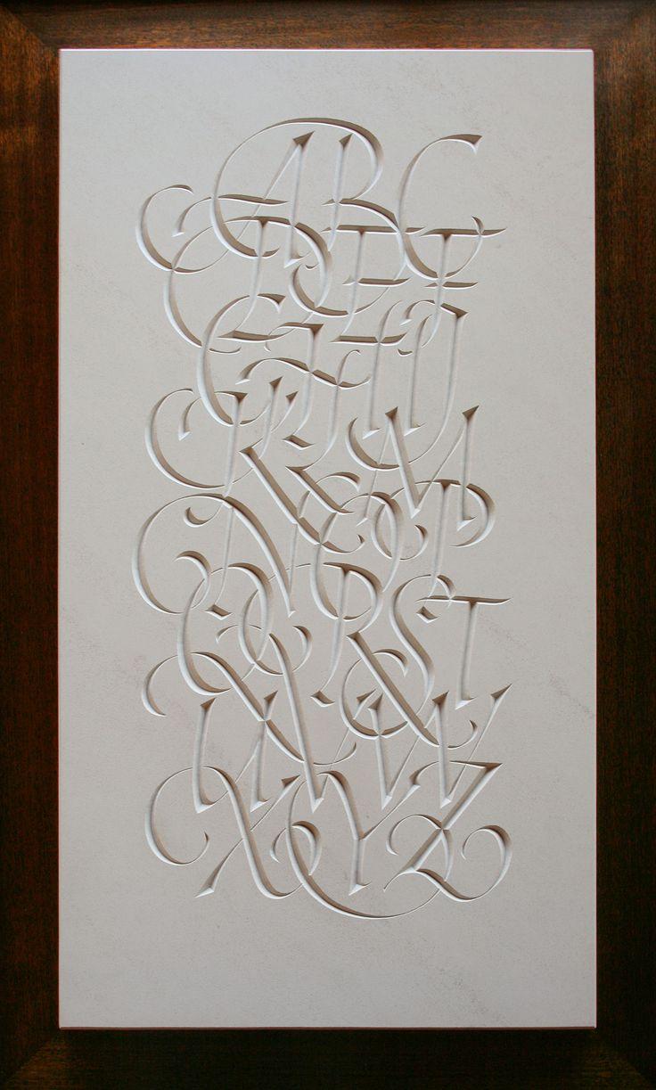 Nick Benson - Italic alphabet in limestone