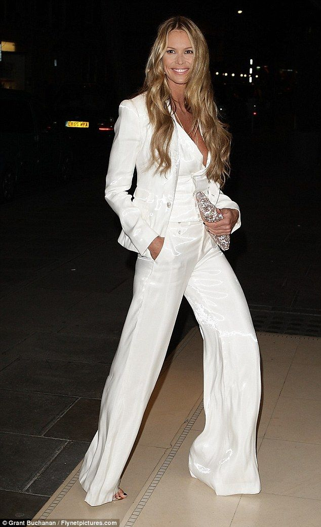white and off white suits for women | elle macpherson